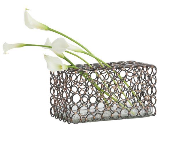 arteriors metal ring vase